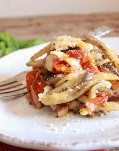 One pot Italian Eggplant Noodle Parmesan/anitalianinmykitchen.com