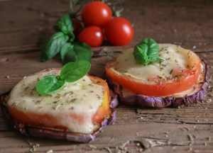 Easy Hot or Cold Grilled Eggplant Caprese, the perfect summer appetizer, side dish or main dish. Fast, easy and incredibly delicious/anitalianinmykitchen.com