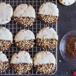 Chocolate Hazelnut Shortbread Cookies, a simple, easy melt in your mouth Christmas shortbread cookie, perfect plain or dipped in chocolate.