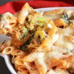 Cheesy Broccoli Pasta Bake, an easy, delicious cheesy vegetarian pasta recipe. Parmesan and Gruyere make it a creamy yummy family favorite.