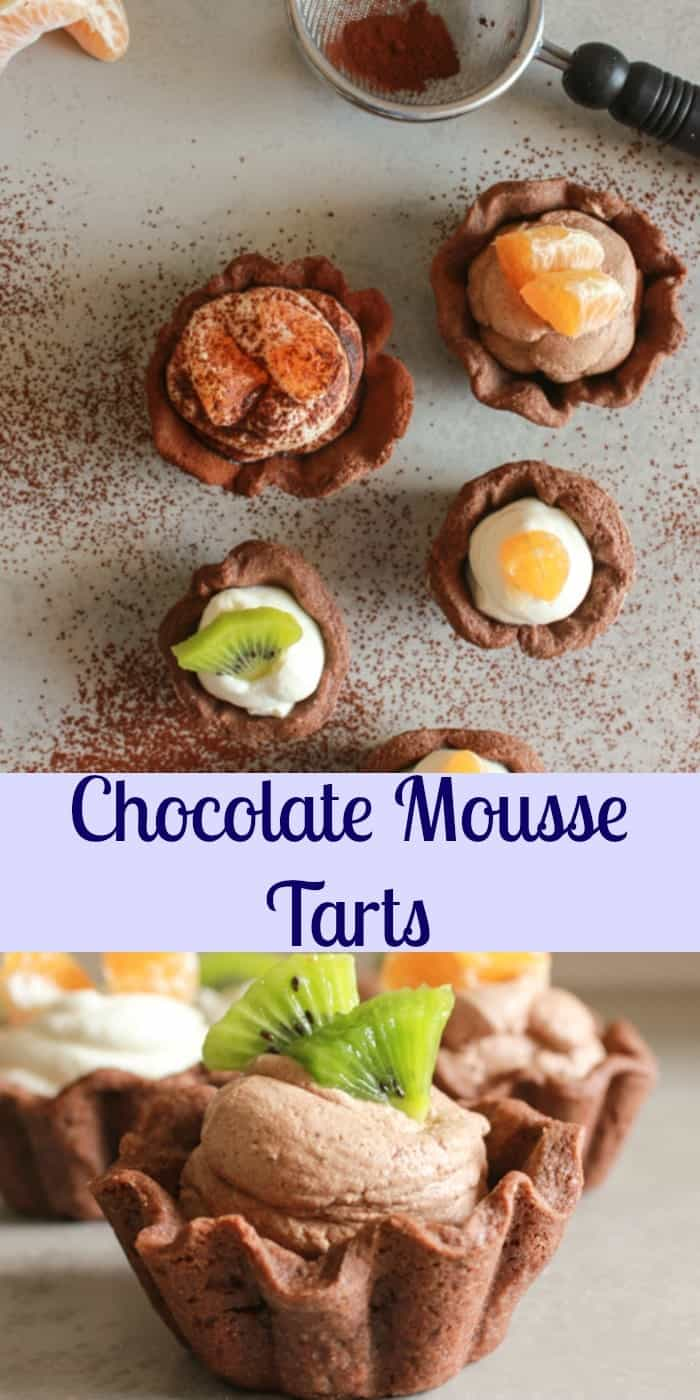 Chocolate Mousse Tarts - An Italian in my Kitchen