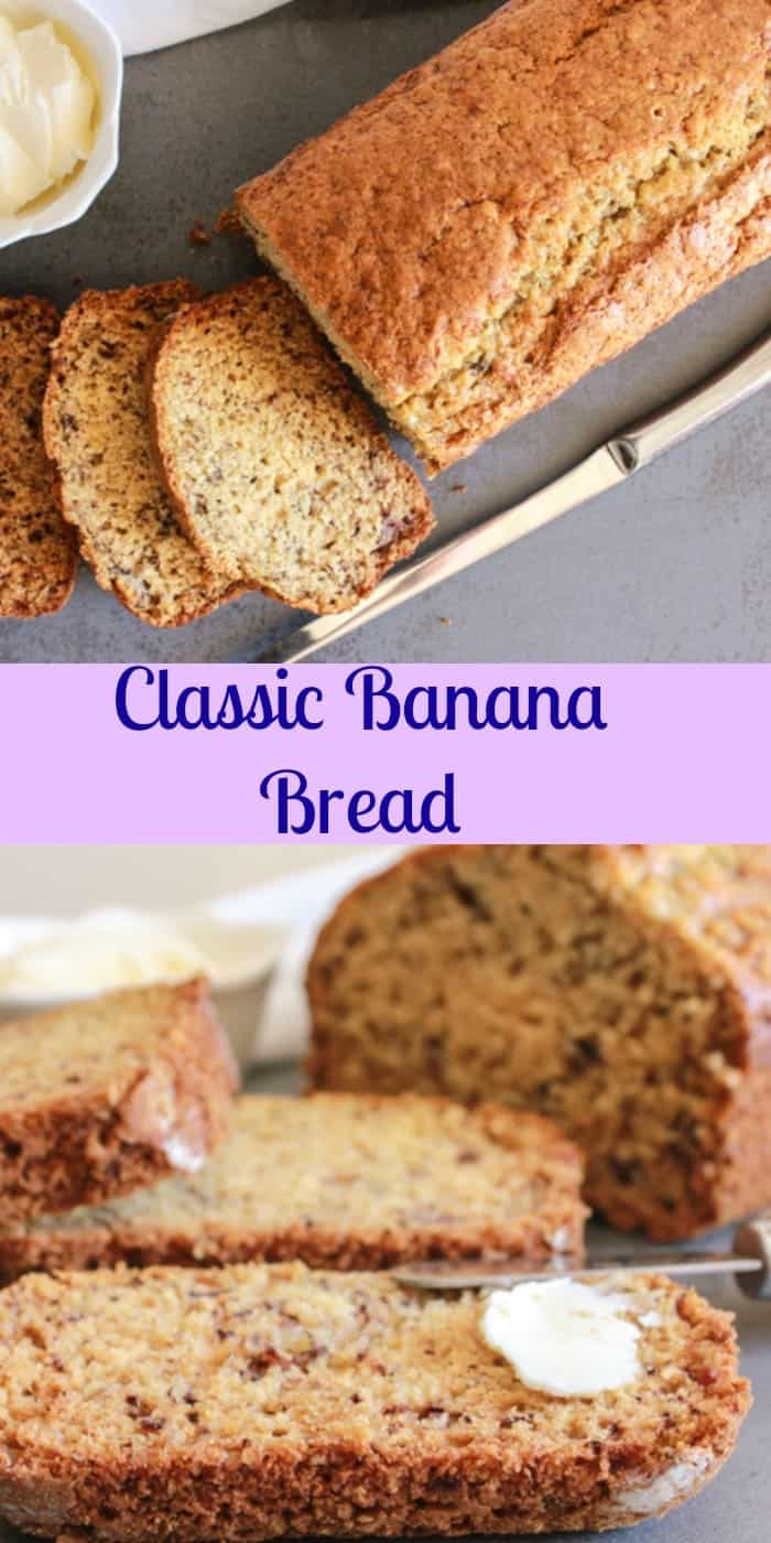 Classic banana breadgresize7001400 classic banana bread a simple easy delicious sweet bread recipe for breakfastsnack forumfinder Images