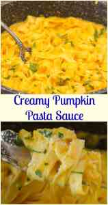 Creamy Pumpkin Pasta Sauce, delicious fast and easy creamy squash/pumpkin pasta recipe. The perfect weeknight vegetarian dinner.
