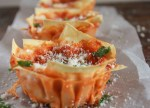 Rustic Lasagna Cups, a fast and easy lasagna recipe, a simple sauce, fresh sauteed veggies, and double cheese, the perfect family or party food.|anitalianinmykitchen.com