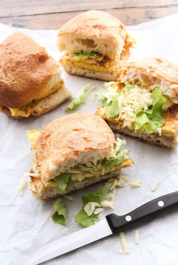 Pancetta Frittata Sandwich, a fast easy and delicious Toasted Italian Sandwich recipe, perfect for breakfast,brunch, lunch and even dinner.|anitalianinmykitchen.com