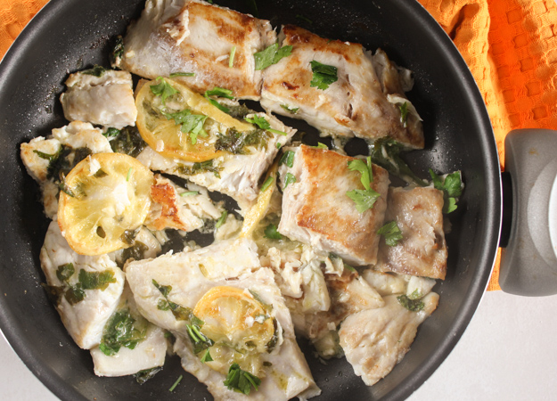 Simple italian pan fried fish an italian in my kitchen for Fried fish nutrition