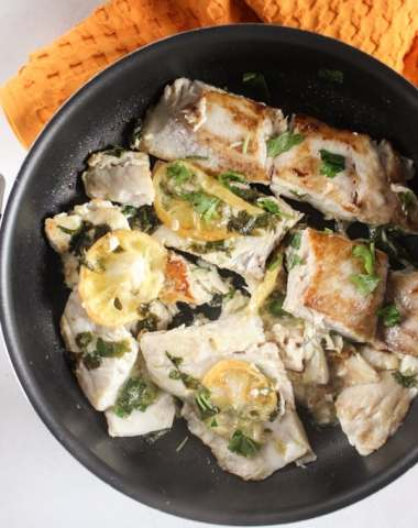 Italian Pan Fried Fish, an easy, simple delicious and healthy fish recipe, 4 ingredients make this dish a family favorite fish dish. Paleo. anitalianinmykitchen.com