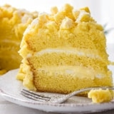 Italian Mimosa Cake, a delicious sponge cake recipe with layers of an Italian Special cream, a classic Italian cake, a delicate creamy dessert. Enjoy.