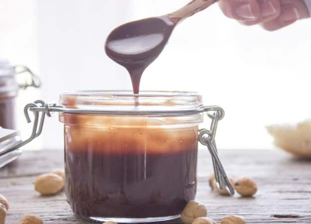 Homemade Nutella, a delicious creamy easy recipe. Made with dark chocolate, roasted hazelnuts, better than the original? You judge!|anitalianinmykitchen.com