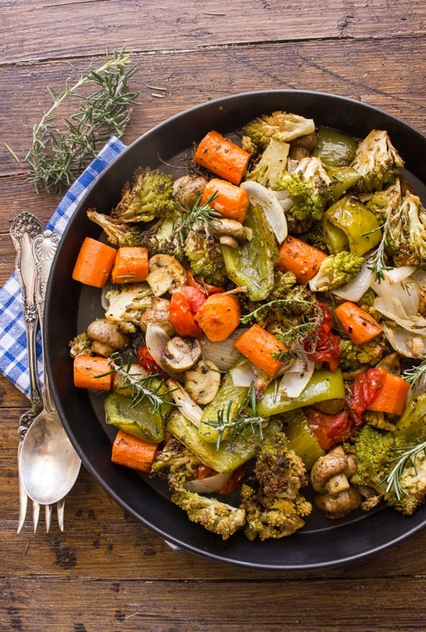 Roasted Vegetables Easy Deliciously Spiced With Italian Herbs And Olive Oil Oven