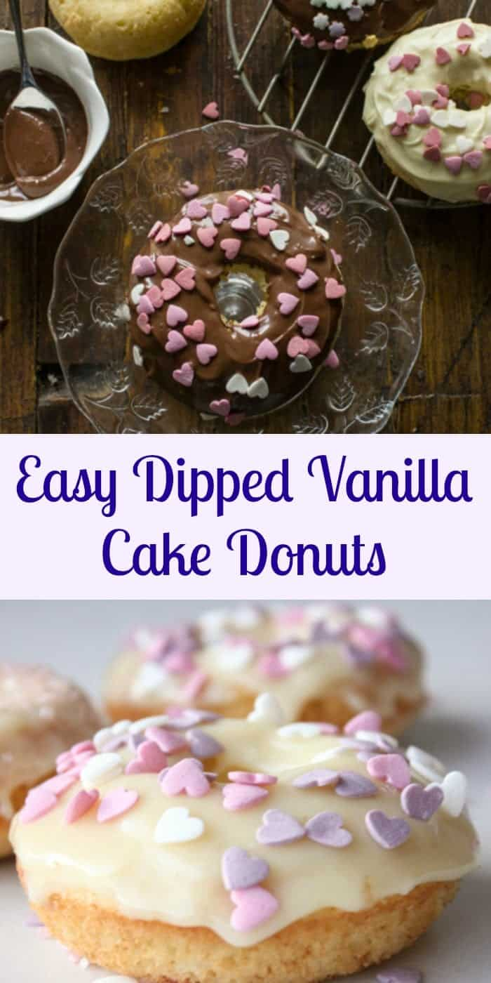 Easy Dipped Vanilla Cake Donuts, not just delicious but also a fast and easy recipe. Dipping in some Chocolate or Nutella makes them extra yummy.|anitalianinmykitchen.com