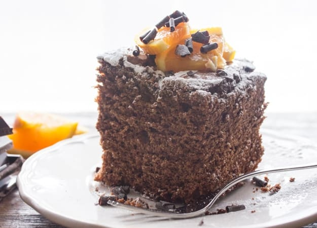 Rich chocolate orange cake recipe