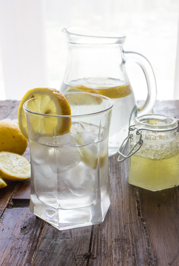 Homemade Orange Lemon Syrup Drink