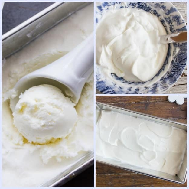 No Churn Vanilla Ice Cream, a fast and easy homemade ice cream dessert recipe. Only 3 ingredients, simple but so creamy and tasty.
