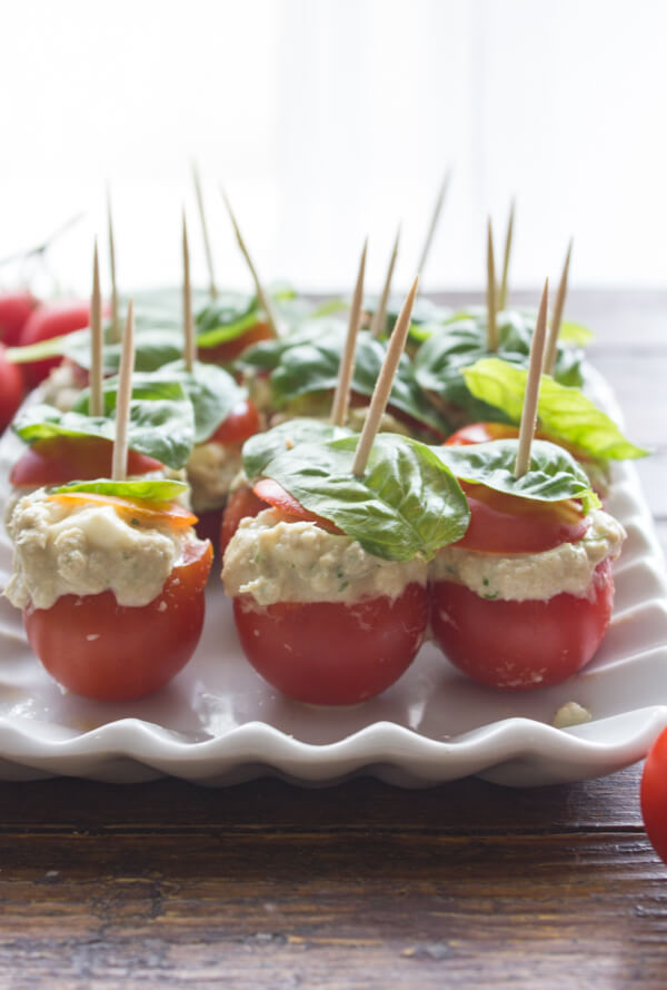 Tuna Mozzarella Stuffed Cherry Tomatoes