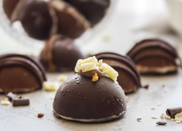Homemade Ice Cream Chocolate Truffles, an easy decadent Summer Dessert recipe. Use your favorite ice cream and chocolate. Delicious.