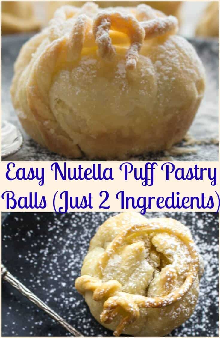 Easy Nutella Puff Pastry Balls,a fast and easy 2 ingredient Dessert idea. A simple pastry filled with Nutella and baked to yummy perfection.