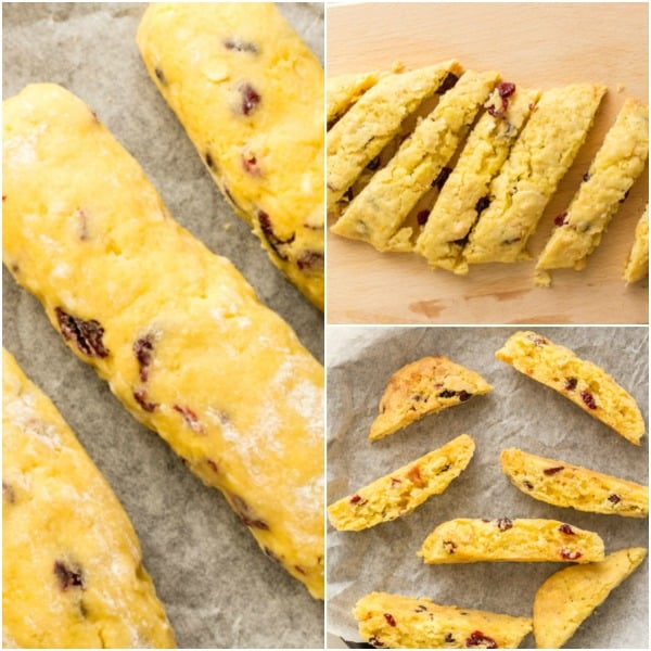 Italian Cranberry Almond Biscotti, a traditional Italian Christmas Cookie,fast,easy,yummy & crunchy. Cranberries,almonds and chocolate chips.