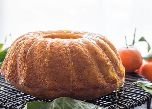Italian Glazed Mandarin Orange Almond Cake, an easy Breakfast or Snack Cake, fresh Mandarins and a simple glaze is all you need. Delicious.