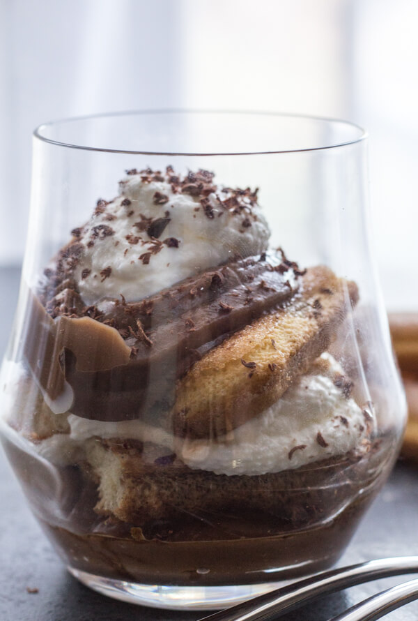 Italian Chocolate Pastry Cream Tiramisu, an easy Italian Dessert recipe, made with lady fingers, chocolate and cream. Delicate & Delicious.