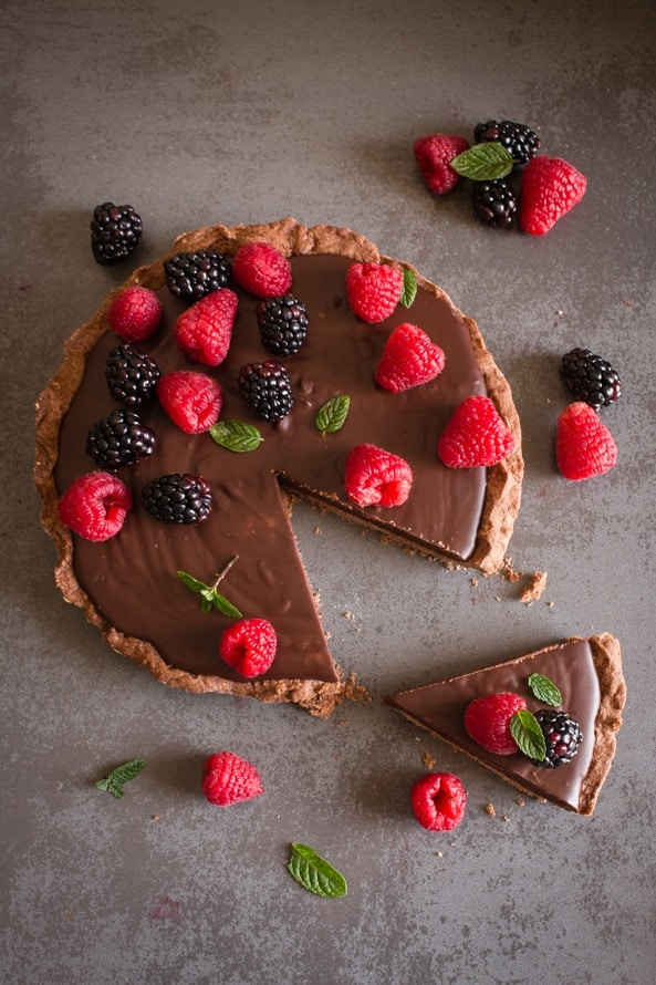 Chocolate Italian Pie is an easy, delicious double chocolate pie, made with a chocolate crust and a creamy smooth filling. Perfect.