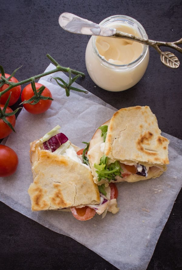 La Piadina- Italian Flatbread Sandwich, Breakfast, lunch or dinner, fast, easy & no yeast recipe. Fill it anyway.