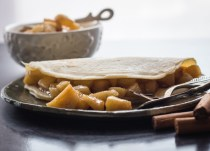 Homemade Apple Pie Cinnamon Crepes, fast easy and delicious.