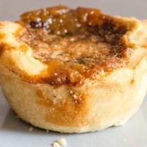 a plain butter tart