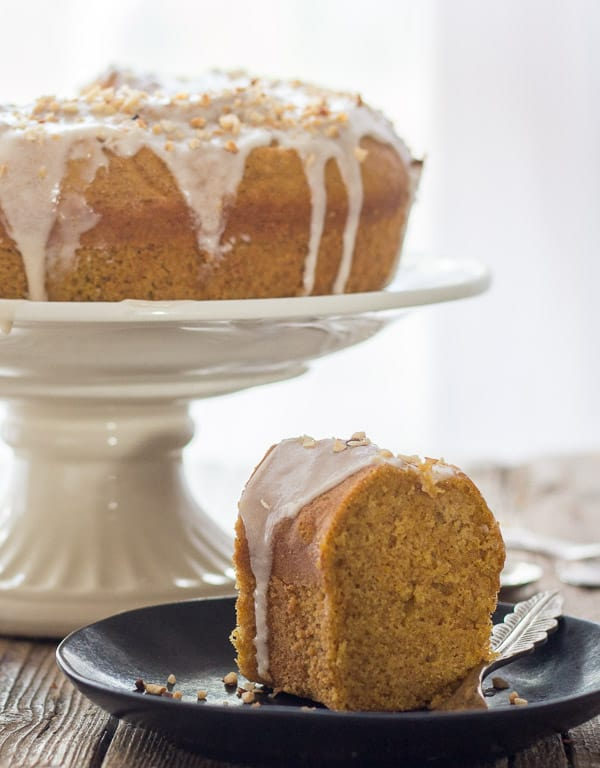 Maple Glazed Pumpkin Cinnamon Cake