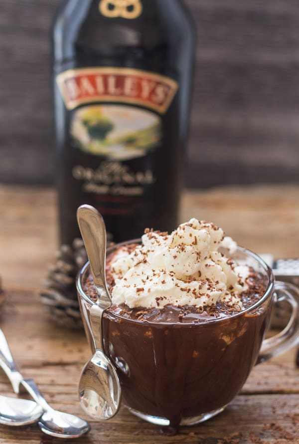 Baileys Thick Italian Hot Chocolate, an easy Italian Hot Chocolate Recipe, creamy and delicious made with real chocolate.