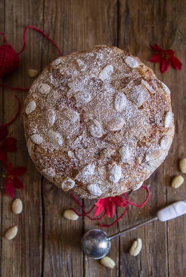 Panettone, an Italian Christmas Sweet Bread Recipe, an easy delicious yeast bread filled with raisins, candied fruit or chocolate chips.