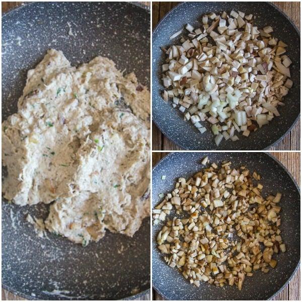 3 photos how to make mushroom ravioli mushroom filling