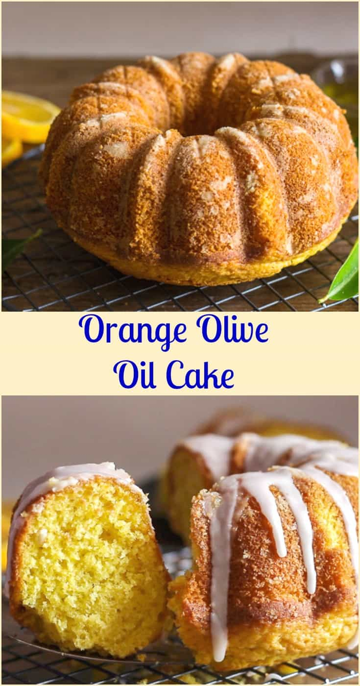 Orange Olive Oil Cake, a moist Italian #Cake made with fresh #oranges, #olive oil and #greek yogurt.  A simple orange glaze makes it perfect.