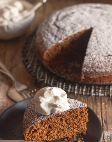 Old Fashioned Gingerbread Cake a simple, moist & easy Christmas Cake Recipe. Served with a spoonful of whipped cream makes it perfect.