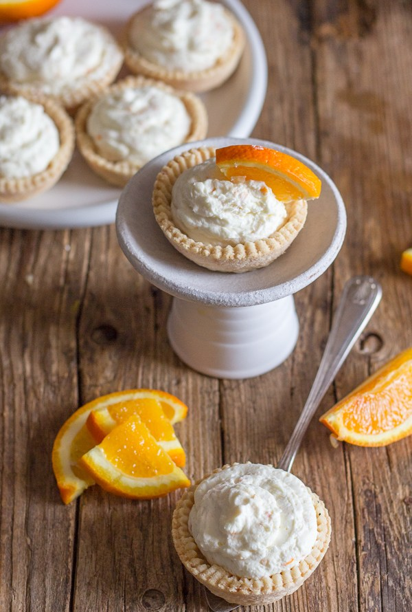 Creamy Orange Cheesecake Tarts