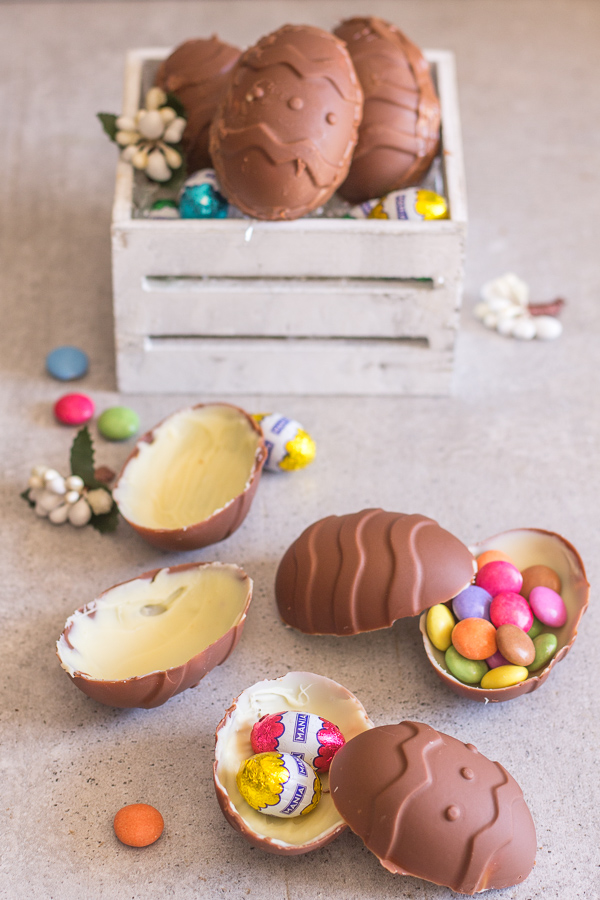 Homemade Double Chocolate Easter Eggs An Italian In My