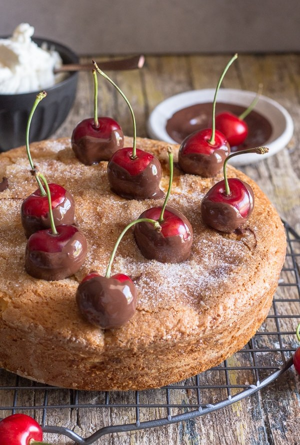 Homemade Fresh Cherry Cake