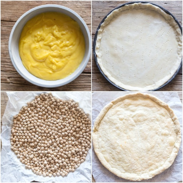 fruit pizza how to make, pastry cream, and blind baking a pie
