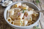 mascarpone pasta in a bowl
