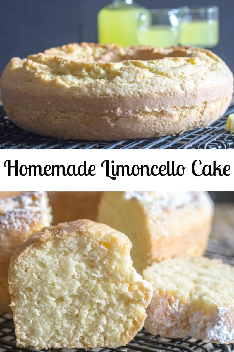 A refreshing simple Limoncello Cake, the perfect dessert or perfect with a cup of tea or coffee. A sprinkling of Powdered Sugar is all it needs. #lemoncake #limoncello #limoncellocake #Italiancake #Italianrecipe #dessert #Italiandessert