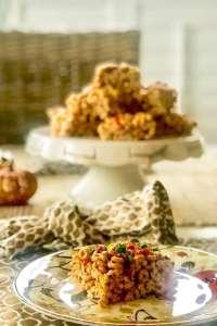 pumpkin cheerios on plate