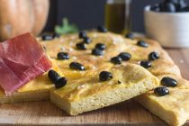 cut pieces of focaccia bread