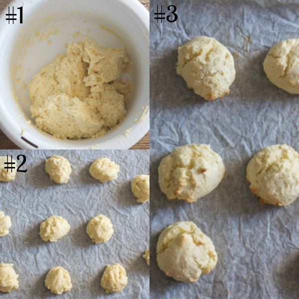 ricotta cookies how to make dough, cookies before and after baking
