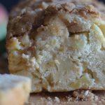 apple bread upclose slice