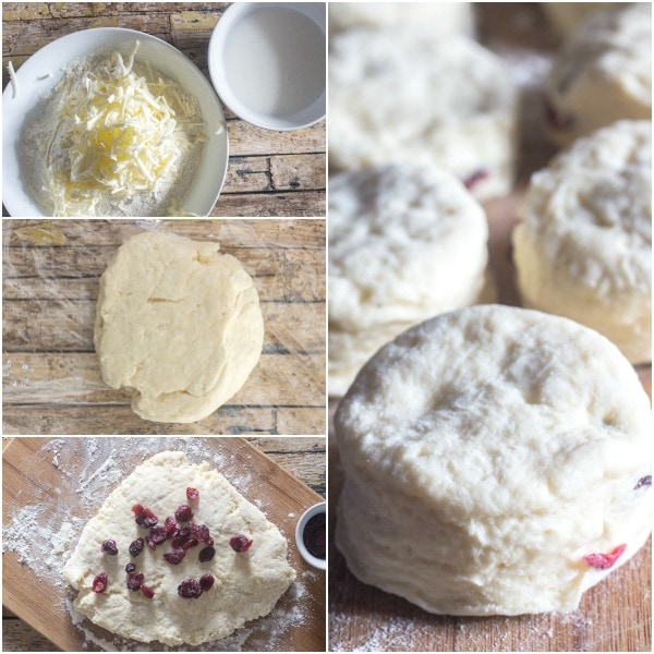 cranberry scones how to make making the dough and baking