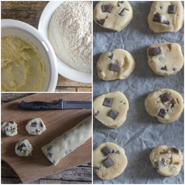 shortbread how to make slice & bake, dough and ready for baking