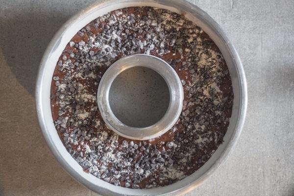 bundt cake ready for baking