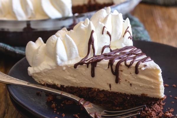 up close piece of mousse pie