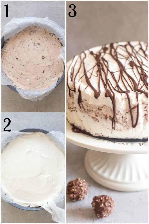 ice cream cake how to make ferrero roche ice cream and finished cake