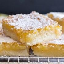 up close lemon squares